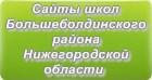 Сайты школ Большеболдинского района Нижегородской области